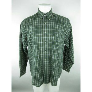 Van Heusen Polyester Blend Stain Free Plaid Shirt